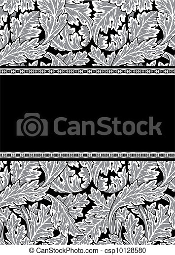 Vector damask frame - csp10128580
