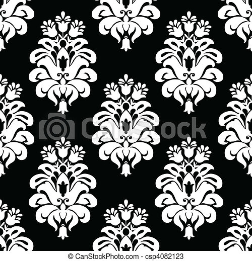 Vector Damask Pattern Vector Floral Pattern Seamless Tile Included Amazing Damask Pattern