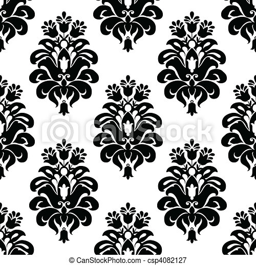 Vector damask pattern. Vector floral pattern. seamless ...