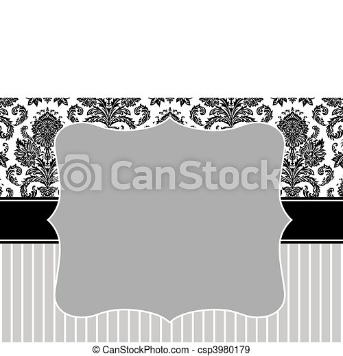 Vector damask stripe frame. Vector decorative frame. easy to scale ...