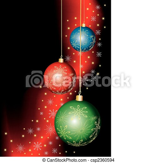 Vector dark Christmas background - csp2360594