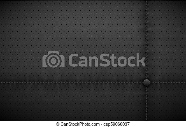 Vector Dark Gray Perforated Leather Texture Wallpaper Realistic Charcoal Perforated Background Black Dotted Pattern Car Seat Material Design