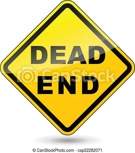 Vector dead end sign - csp22282071