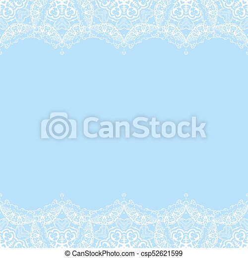 vector decorative border from white snowflakes on blue background greeting invitation card for