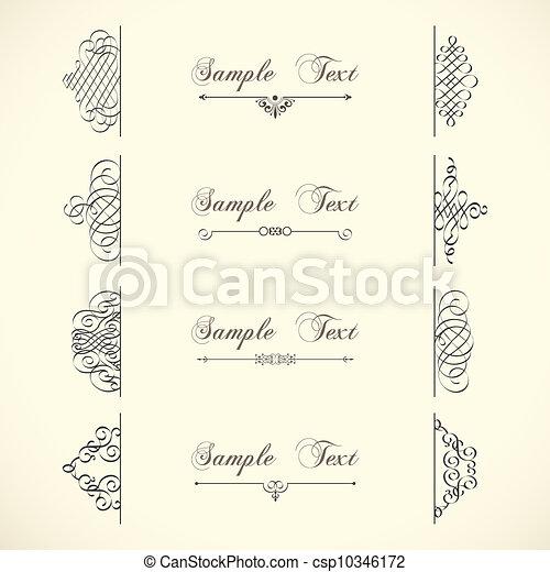 Vector decorative design elements  - csp10346172