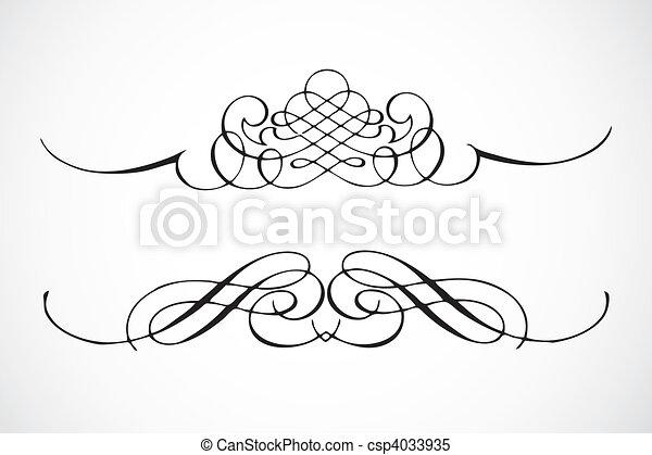 Vector Decorative Frame Ornaments - csp4033935