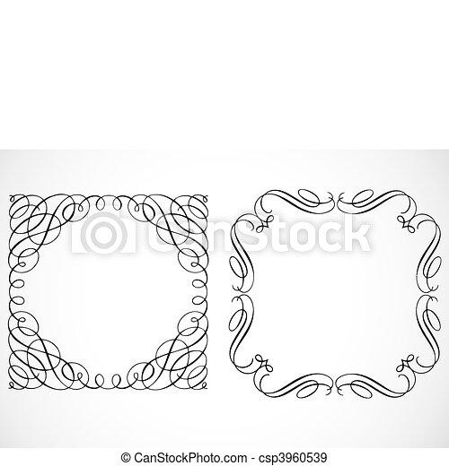 Vector Decorative Frames - csp3960539