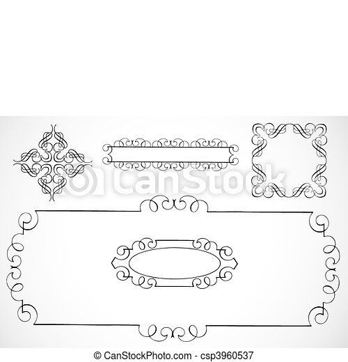 Vector Decorative Frames - csp3960537