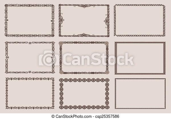 Vector decorative frames, set 9 - csp25357586