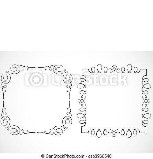 Vector Decorative Frames - csp3960540