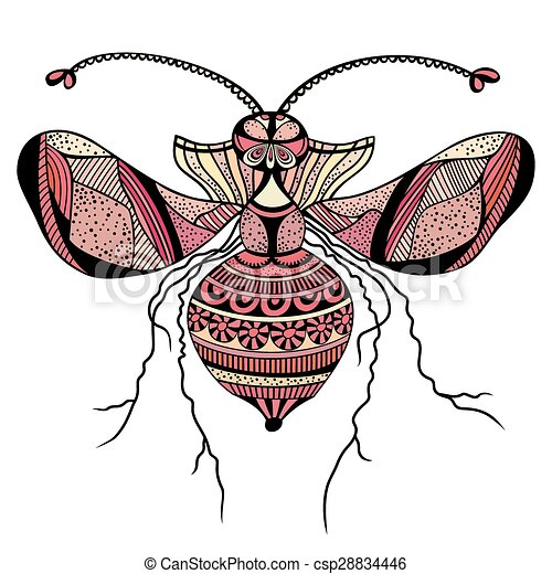 Vector decorative insect butterfly - csp28834446