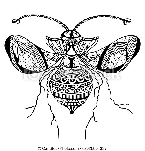 Vector decorative insect butterfly - csp28854337