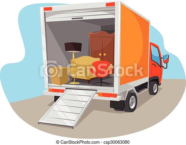Vector delivery car  - csp30063080
