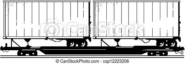 Vector delivery / cargo truck - csp12223206