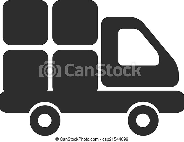 Vector Delivery Truck Black Icon - csp21544099