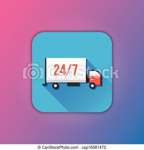 Vector Delivery Truck Icon - csp16581472