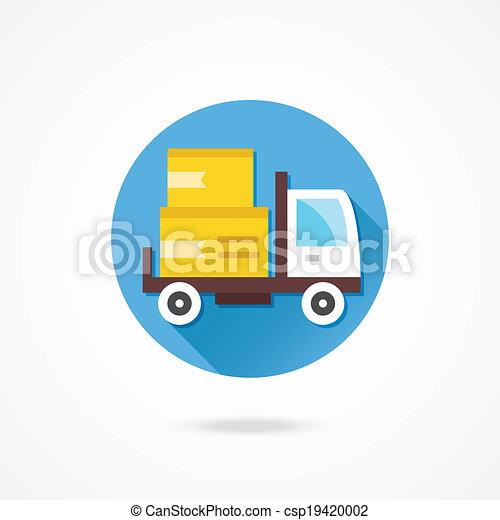 Vector Delivery Truck Icon - csp19420002