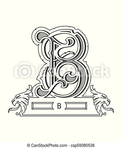 Vector Design About Black On White Alphabet Letter B Vector