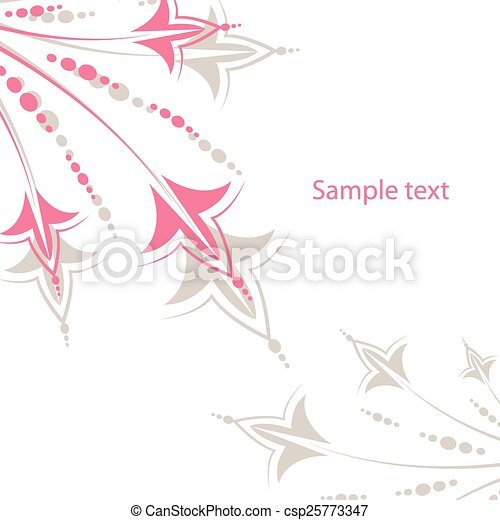 Vector design card with flowers - csp25773347