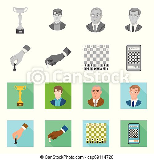 Vector design of checkmate and thin sign. Collection of checkmate and target stock symbol for web. - csp69114720
