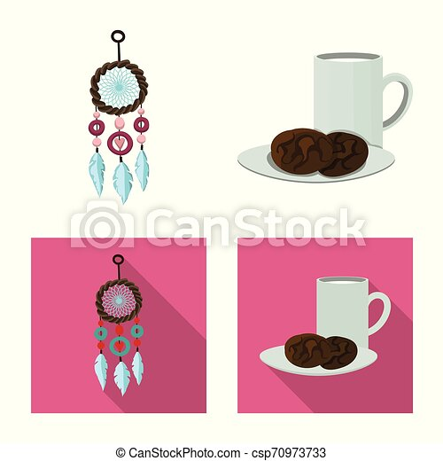 Vector design of dreams and night symbol. Collection of dreams and bedroom stock vector illustration. - csp70973733