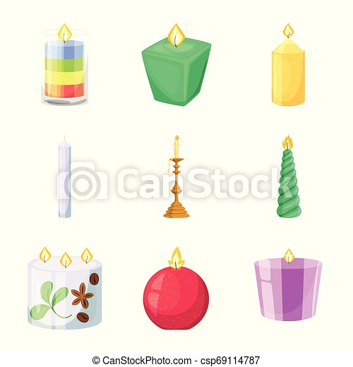 Vector design of light and wax icon. Collection of light and ceremony vector icon for stock. - csp69114787