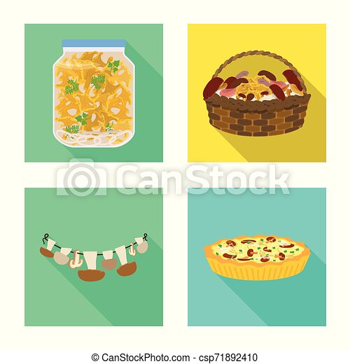 Vector design of raw and summer icon. Set of raw and ingredient vector icon for stock. - csp71892410