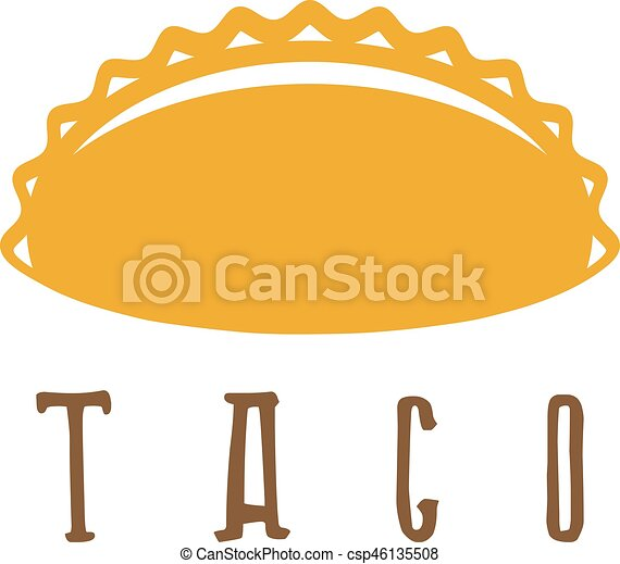 Vector design template of taco mexican food.