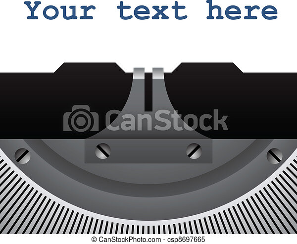 vector detail of vintage typewriter - csp8697665