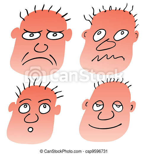 vector different facial expressions - csp9596731