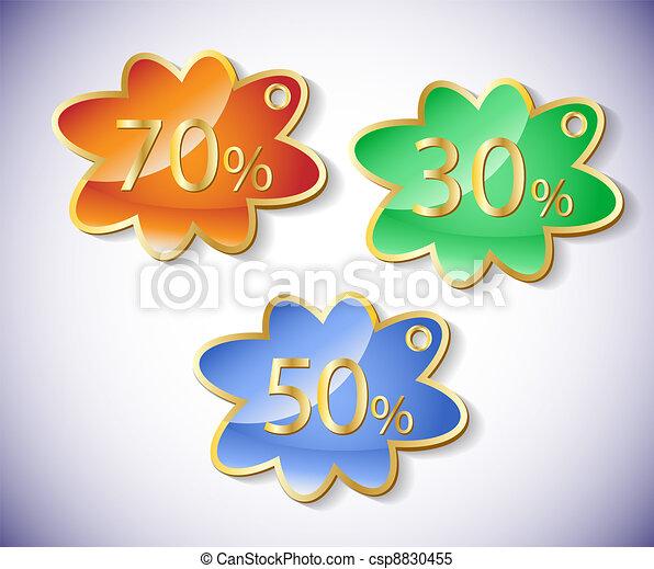 Vector discount labels set. - csp8830455
