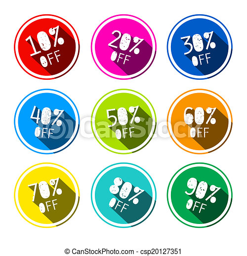 Vector Discount Stickers - Labels Set - csp20127351