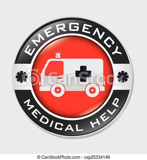 Diseño de emergencia, ilustración vectorial. - csp25334149