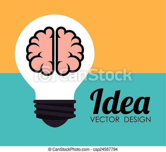 Diseño de ideas, ilustración vectorial. - csp24587794