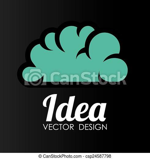 Diseño de ideas, ilustración vectorial. - csp24587798