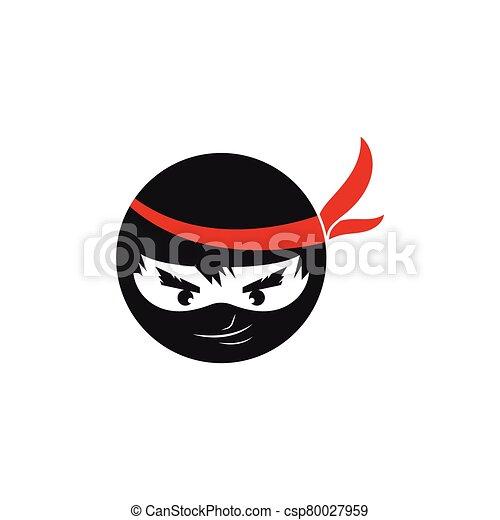 vector, diseño, ilustración, icono, ninja - csp80027959