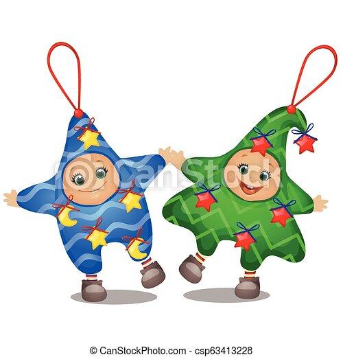 Un Conjunto De Divertidos Trajes De Navidad Para Niños Y