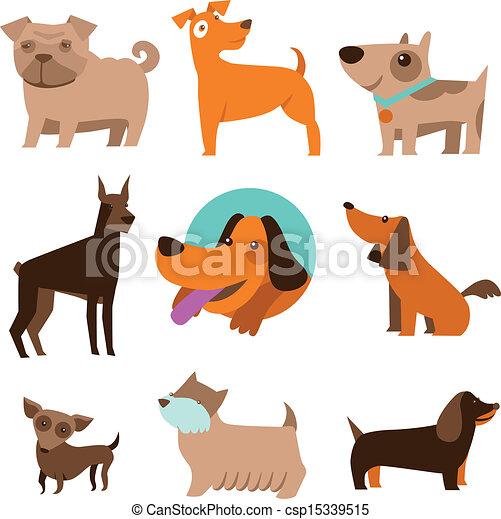 Un juego de perros cómicos - csp15339515