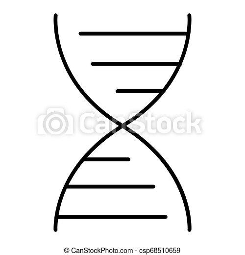vector DNA molecule icon. Flat outline design. Eps 10 - csp68510659
