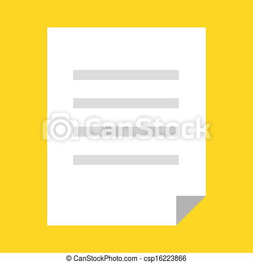 Vector Document Icon - csp16223866