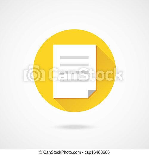 Vector Document Icon - csp16488666
