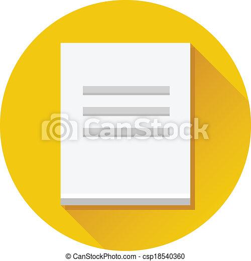 Vector Document Icon - csp18540360