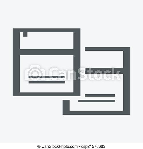 Vector document icon - csp21578683