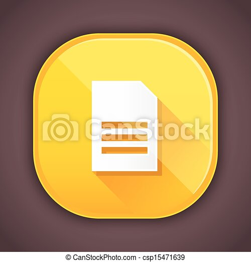 Vector Document Icon - csp15471639