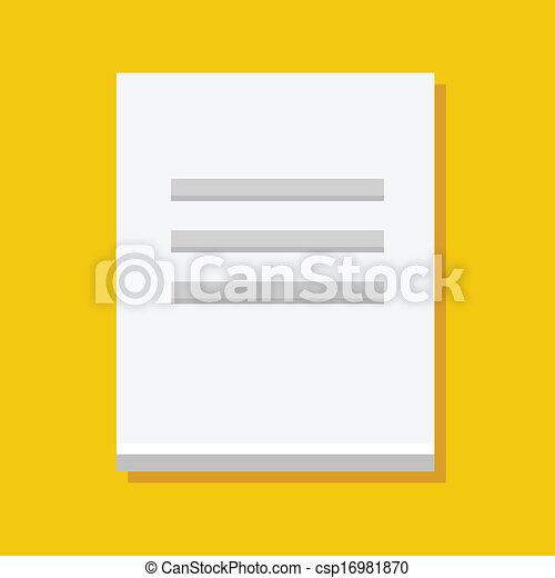 Vector Document Icon - csp16981870