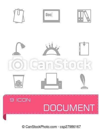 Vector Document icon set - csp27986167