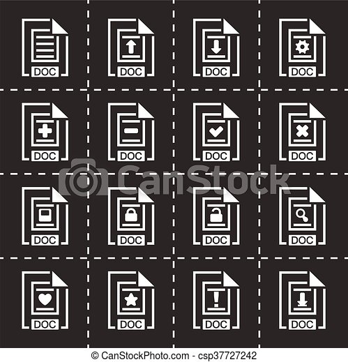 Vector Document icon set - csp37727242
