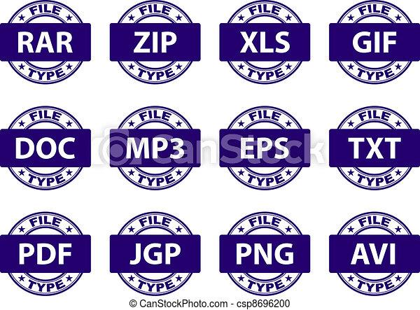 vector document icon stamps - csp8696200
