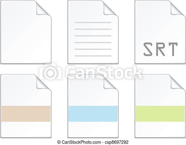 vector document icon templates - csp8697292