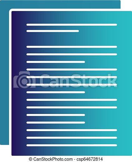 vector document icon - csp64672814
